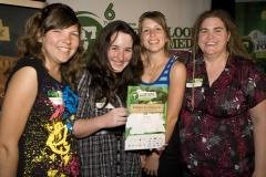 Rachel Yuretich, Charlee Collins, Alice Yuretich and Kaitaia College teacher Amber Davidson at The Outlook for Someday Awards 2009